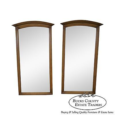 Ethan Allen American Traditional Pair of Solid Maple Arch Top Mirrors