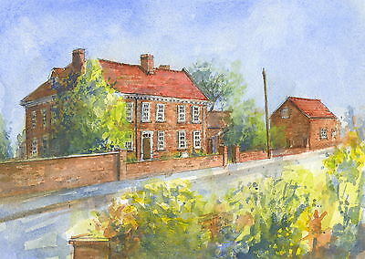 Epworth Old Rectory, Hand Signed, Titled and Mounted Print with COA