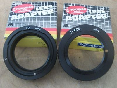 Lot Of 2 T-Mount Lens Adapters For Canon