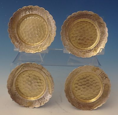 Lap Over Edge Acid Etched by Tiffany & Co. Sterling Silver Butter Pats #0058