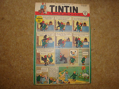 1952 Tintin Journal with Herge cover illustration of Quick & Flupke.
