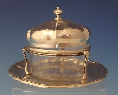 Missiaglia .900 Silver Mexican Mexico Caviar Dish with Glass Liner (#0068)