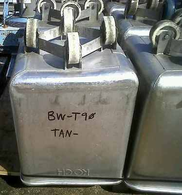 Stainless Steel Koch Tote Tank on casters. Approx. 10 Cu.Ft. (75 Gallon)