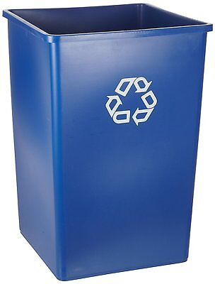 Case of 4 Rubbermaid Commercial FG395973 BLUE Square 50-Gal Recycling Container