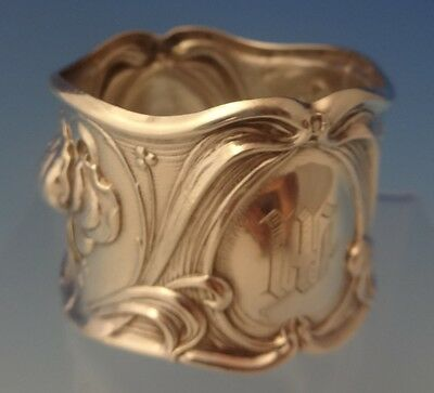 """Frank Whiting Sterling Silver Art Nouveau Napkin Ring Wide 1 1/4"""" X 1 3/4"""" #0073"""