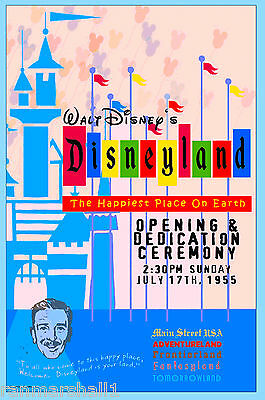 Anaheim California Disney Dedication United States Travel Advertisemnt Poster