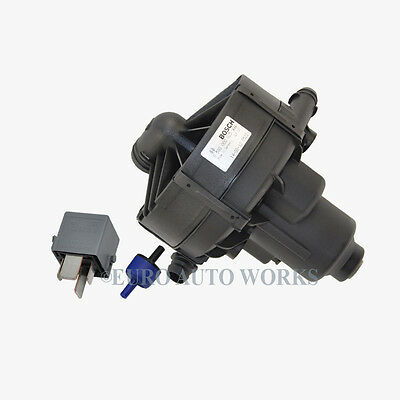 Mercedes Smog Air Pump Secondary Air Injection + Relay + Valve Bosch OEM 0005185