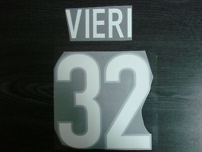 VIERI #32 Inter Milan Home 1999-2000 Name and Number