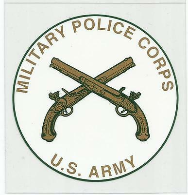 U.S. Army Military Police Decal - Outside Application