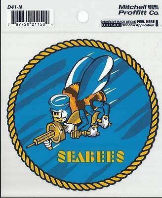 United States Navy Seabees Decal - Outside Application
