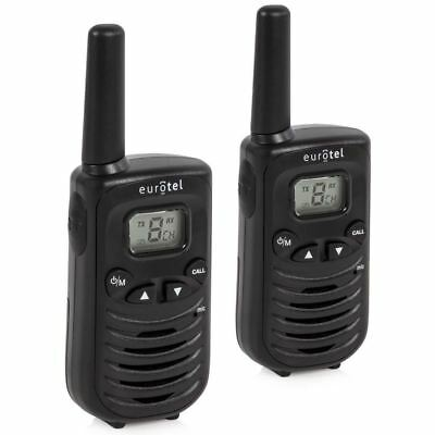 Binatone Latitude 55 Twin Two-Way Walkie Talkie Black Radio Phone Long Range Set