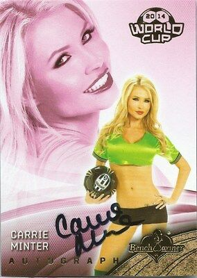 (HCW) 2014 Bench Warmer Soccer World Cup CARRIE MINTER Autograph Authentic
