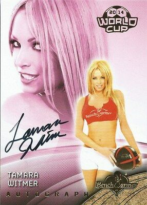 (HCW) 2014 Bench Warmer Soccer World Cup TAMARA WITMER Autograph Authentic