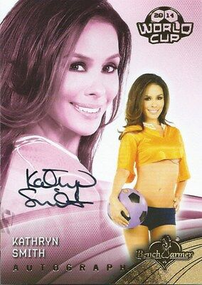 (HCW) 2014 Bench Warmer Soccer World Cup KATHRYN SMITH Autograph Authentic