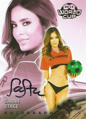 (HCW) 2014 Bench Warmer Soccer World Cup SARAH STAGE Autograph Authentic