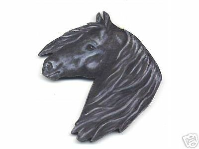 FRIESIAN HORSE Head Study Wooden MEMO MAGNET - Hand Crafted !