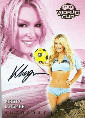 (HCW) 2014 Bench Warmer Soccer World Cup KIRSTY LINGMAN Autograph Authentic