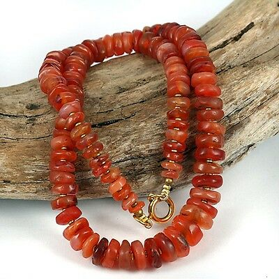Very Old - Antique  Carnelian Stone Slice Cut Bead Collection