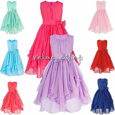 Flower Girl Princess Dress Bridesmaid Wedding Pageant Party Formal Tutu kid Gown