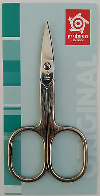 Pfeilring 4165N Nail Scissors Brushed Straight Nickel-Plated 90mm