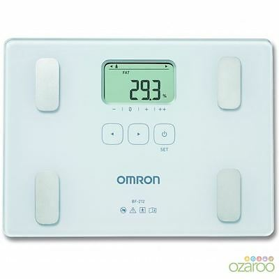 Omron BF212 Slim Body Fat Mass Home Composition Monitor Bathroom Weight Scales