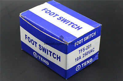 New Electric Power SPDT FootSwitch Heavy Duty TFS-201 Pedal Momentary Control