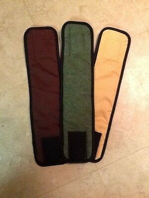 3Pk Male Dog Diaper GREEN LEAVES, BROWN, TAN Belly Band Sz XS-XL Your Choice