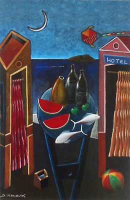 "Dimitris C. Milionis ""HOTEL"" Signed Open Edition Offset-Litho Print Greek 2004"