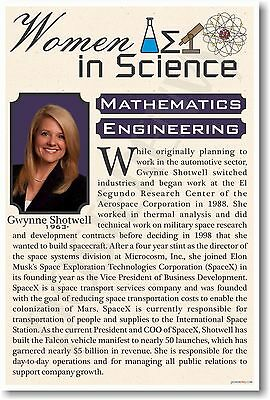 Gwynne Shotwell - President of SpaceX - NEW Women in Science  - Classroom POSTER
