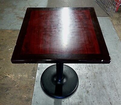 """30"""" X 24"""" Wood Top Laminate Restaurant Bistro Pub Bar Table With Heavy Base"""