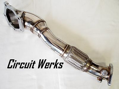 "True 4"" to 3"" Evolution X EVOX 2 Piece Down Pipe 4B11T 2.0L EVO 10 Wide Downpipe"