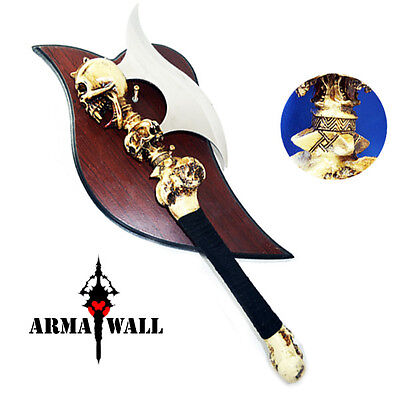 Brand New Double Sided Battle Axe Display with Free Plaque (AW240515_01)