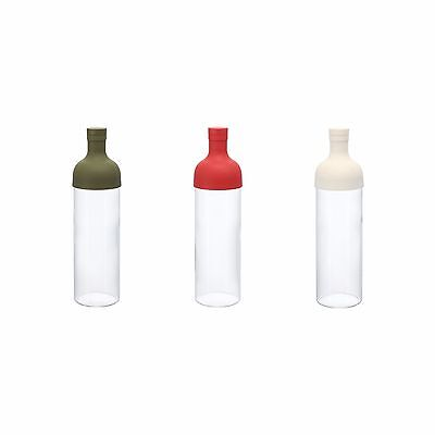 Hario Filter in Bottle 750cc : 3 color w Silicone Rubber Filter for tea leaf
