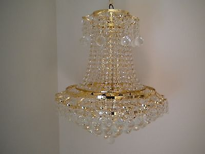 ~Rare~  European Glass Beaded/crystal Balls  Chandelier!!!