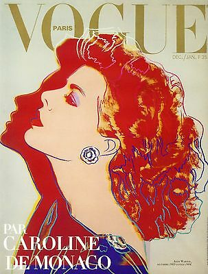 vogue fashion cover vintage art painting print 1980