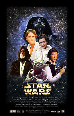 A1 For Glass  Frame Star Wars Movie Poster Print