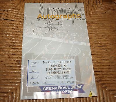 John Elway Autographed Signed Arena Bowl XV 2001  Rampage Vs Kats