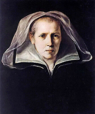Stunning Oil painting Guido Reni - portrait of the artists mother woman & scarf