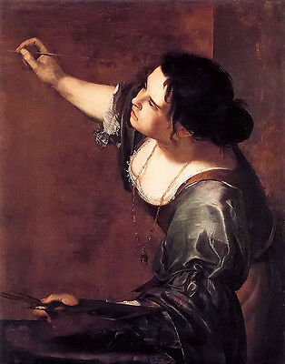 Oil painting artemisia gentileschi self portrait as the allegory of painting