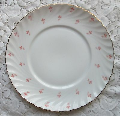 Royal Bayreuth Fine China Germany White tiny pink flowers ROB104 bread plate 6.5