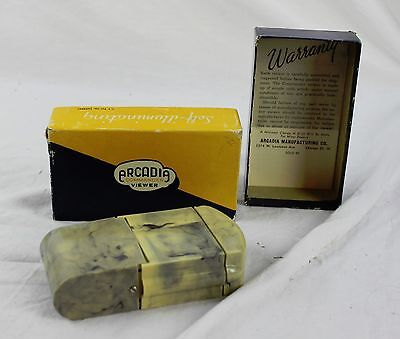 Vintage Blue & Cream Or Yellow Bakelite Arcadia Commander View In Original Box