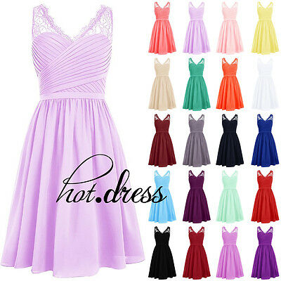2017 STOCK Formal Prom Party Cocktail Gown Short Bridesmaid Evening Dresses 6-20