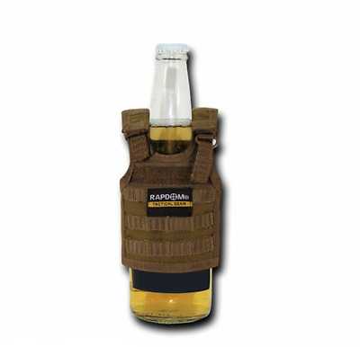 RAPDOM Can Bottle Cooler Beverage Insulator Tactical Vest Beer SodaCoyote