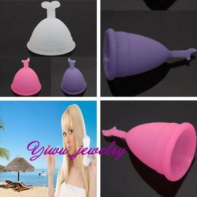 Hot Silicone Reusable Menstrual Cup Women Cup No Tampon / Pad Female Products YZ