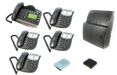 BT Analogue Telephone System PBX, Voicemail & 5 Phones inc VAT FREE DEL