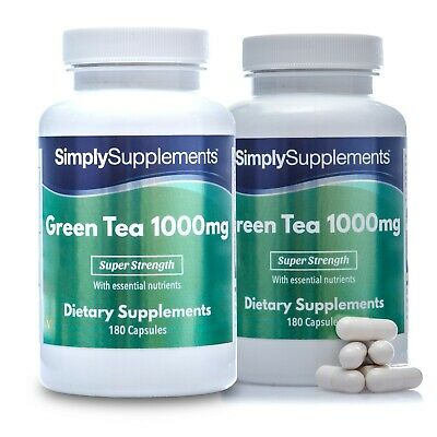 Green Tea Extract 1000mg   360 Capsules   Diet Weight Loss Supplement   UK Made