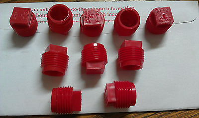 """Plugs, Threaded Round, 1/4"""" NPT Male,  *Pack of 10"""