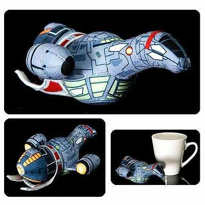 """FIREFLY Licensed Official 6"""" Deluxe Mini SERENITY Space Ship PLUSH Toy  SHINY!"""