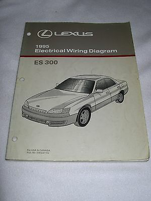 1995 lexus es300 es 300 factory original electrical wiring diagram manual