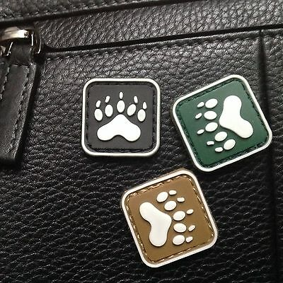 3 Mini Blackwater Tracker Bear Paw Tactical Army Pvc Patch/glow In Dark